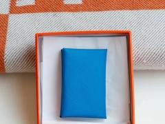 手工制作 H家 小卡包 Epsom皮 可装20多张小卡片 小零钱硬币