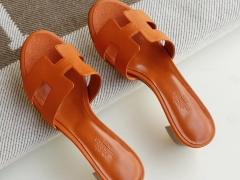 夏季旅游必备凉拖 H中跟4.5cm 女拖鞋凉拖鞋 Epsom 经典橙 34-42码