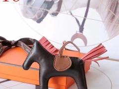 H家新版小马鬃毛系列 中号小号颜色齐全全手缝 啡色