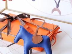 H家新版小马鬃毛系列 中号小号颜色齐全全手缝 电光蓝
