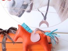 H家新版小马鬃毛系列 中号小号颜色齐全全手缝 经典橙色