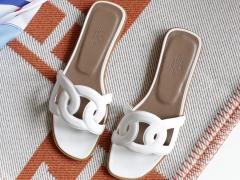 H家平底凉鞋女拖鞋 夏季沙滩鞋 镂空 Swift 白色 37码