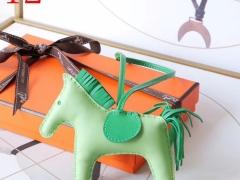 H家新版小马鬃毛系列 中号小号颜色齐全全手缝 牛油果绿