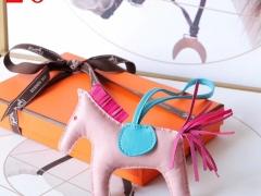 H家新版小马鬃毛系列 中号小号颜色齐全全手缝 浅粉色