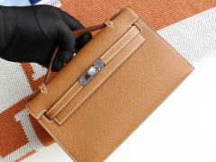 爱马仕 CK37 金棕 银扣 Minikelly一代 原厂Epsom皮 迷你凯莉包 纯手缝蜡线缝制工艺