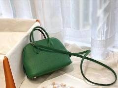 17 Mini Bolide 山羊皮 竹子绿 银扣 手缝蜡线 正品开版